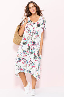Plus Size - Sara Button Dress