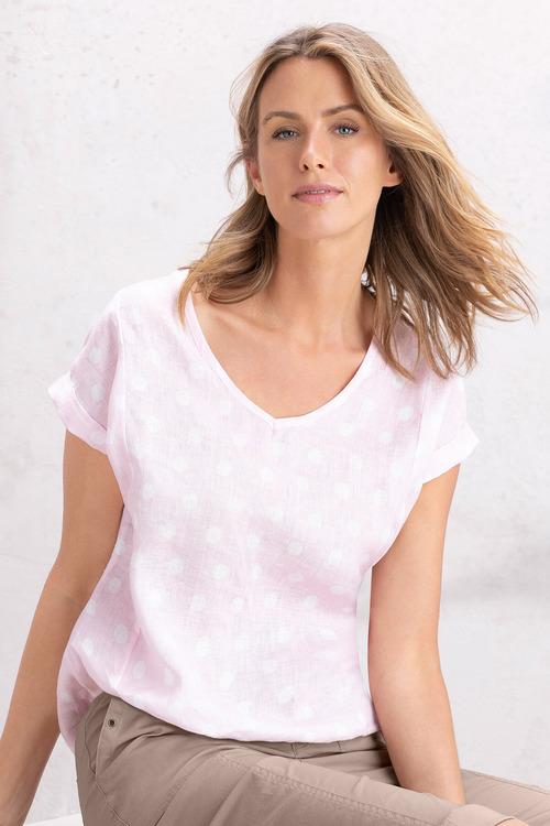 Capture Linen Cuff Sleeve Top
