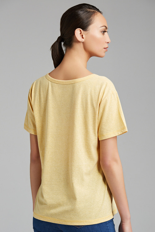 Capture V Neck Marle Tee