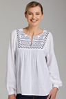 Capture Embroidered Neck Boho Top