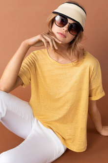 Capture Linen Boxy Tee