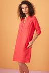 Capture Linen 1/2 Placket Pocket Dress
