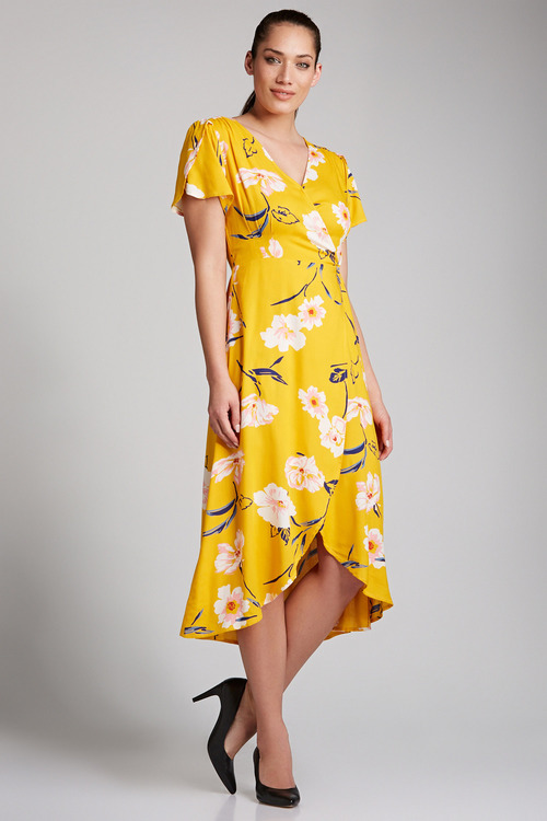 Capture Wrap Midi Dress