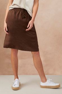 Capture Linen Pull On Skirt - 234041