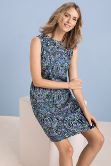 Capture Printed Sleeveless Shift Dress