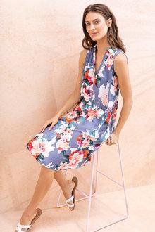 Capture 1/2 Placket Sleeveless Dress - 234043