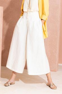 Grace Hill Linen Blend Button Culottes - 234056