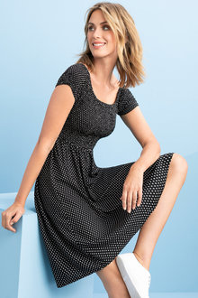 Capture Ruched Bodice Dress - 234058