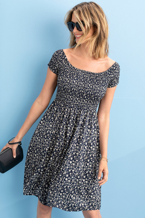Capture Ruched Bodice Dress