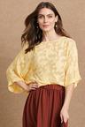 Grace Hill Burnout Kimono Sleeve Top