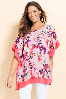 Plus Size - Sara Square Print Top