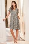 European Collection Animal Print Tunic Dress