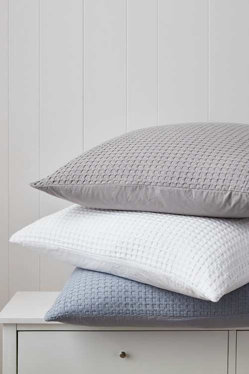 Waffle European Pillowcase Pair