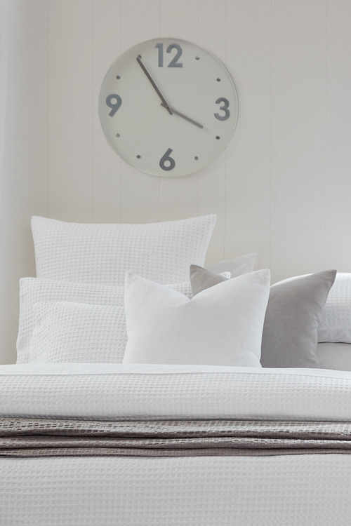 Waffle European Pillowcase Pair