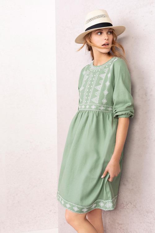 Emerge Embroidered Boho Dress