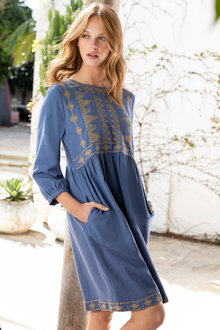 Emerge Embroidered Boho Dress