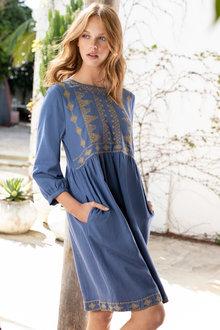 Emerge Embroidered Boho Dress - 234138