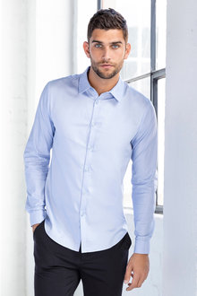 Jimmy+James Mens Fitted Long Sleeve Shirt