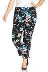 Plus Size - Sara Printed Crop Pants