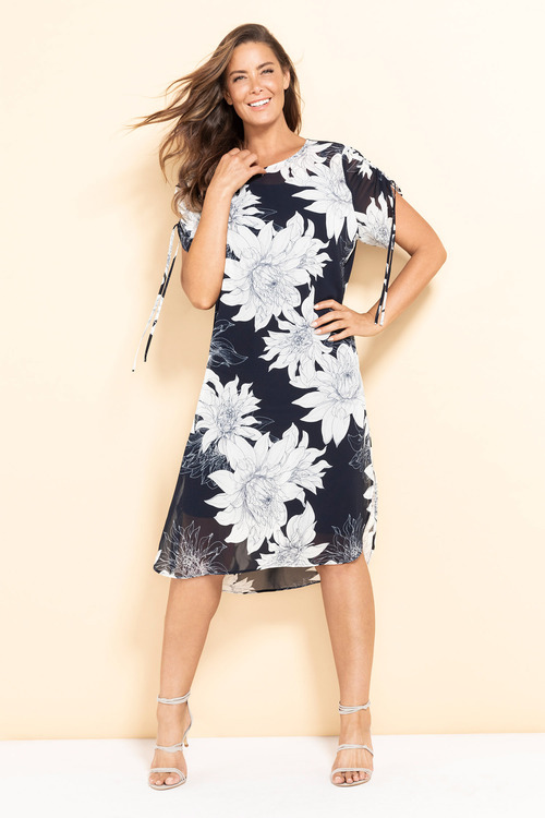 Plus Size - Sara Tunic Dress with Slip