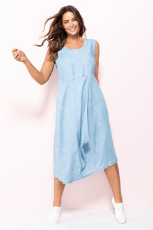 Plus Size - Sara Sleeveless Lyocell Drape Dress - 234164