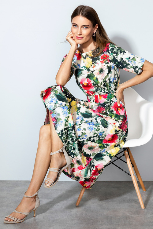 Grace Hill Belted Dress