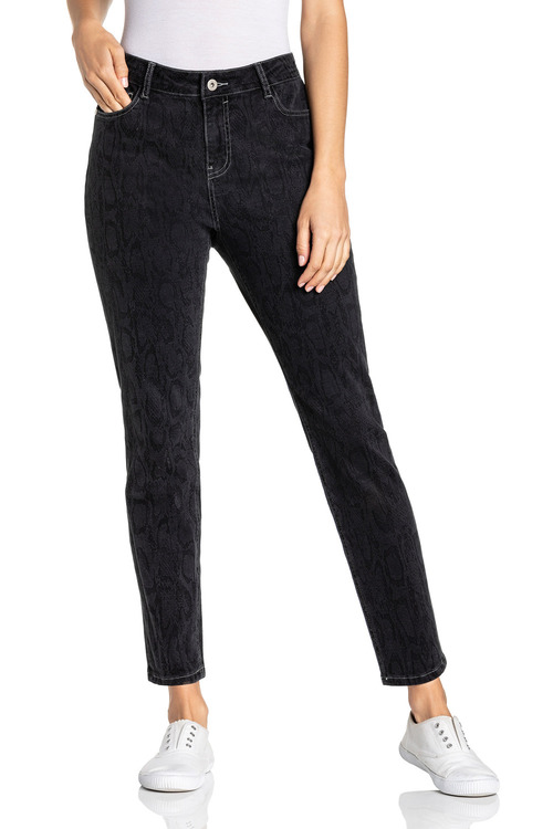 Emerge 5 Pocket Printed Jeans