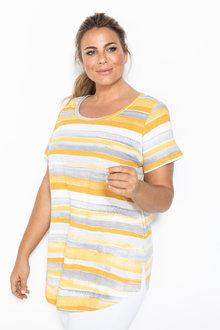 Plus Size - Sara Stripe Print Tee