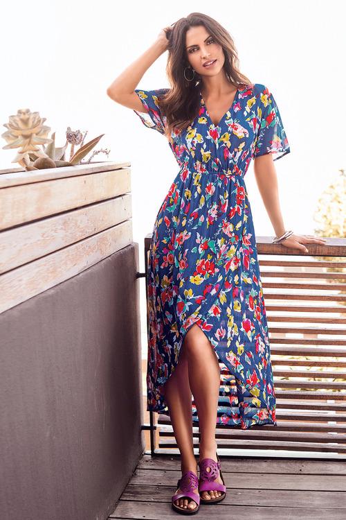 Kaleidoscope Floral Crinkle Dress