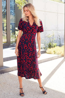 Kaleidoscope Poppy Print Dress - 234201