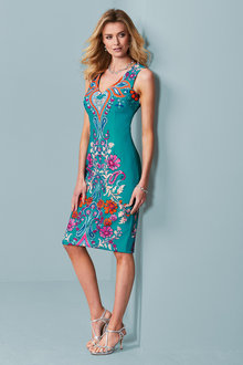 Kaleidoscope Printed Scuba Dress - 234203