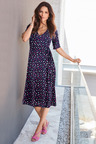 Kaleidoscope Spot Print Wrap Dress