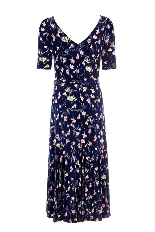 Kaleidoscope Floral Print Dress