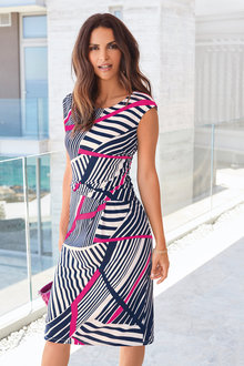 Kaleidoscope Geo Stripe Dress - 234218