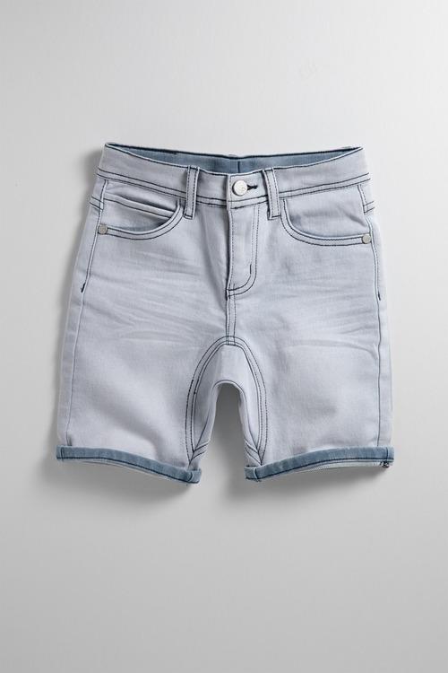 Pumpkin Patch Knit Denim Shorts