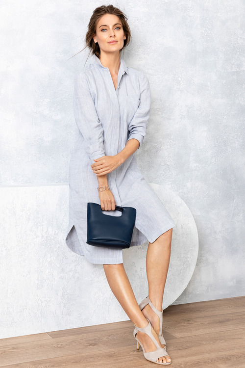 Grace Hill Linen Placket Dress