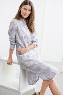 Grace Hill Linen Placket Dress - 234243