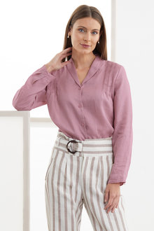 Grace Hill Linen Pintuck Shirt - 234245