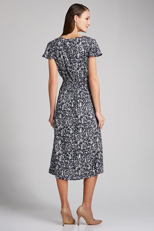 Capture Shirred Waist Dress