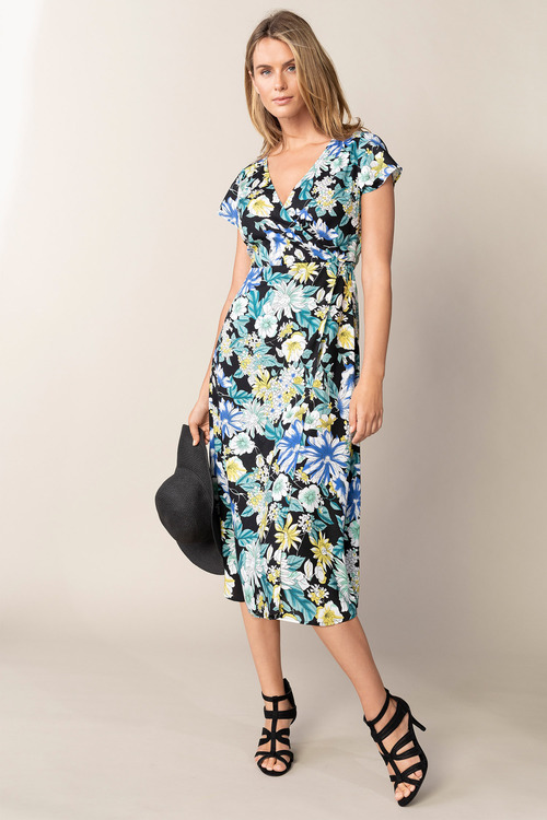 Capture Midi Mock Wrap Dress