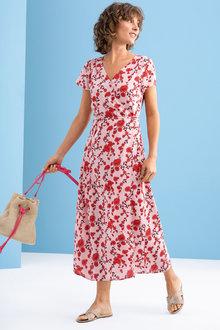 Capture Midi Mock Wrap Dress - 234253