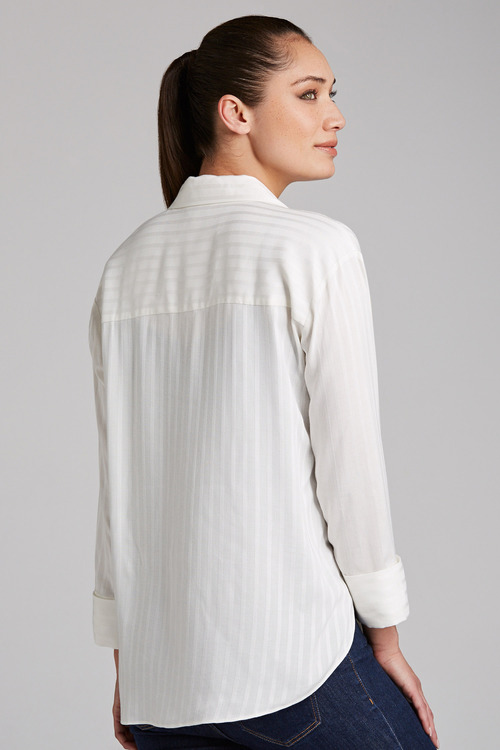 Capture 1/2 Placket Self Stripe Shirt