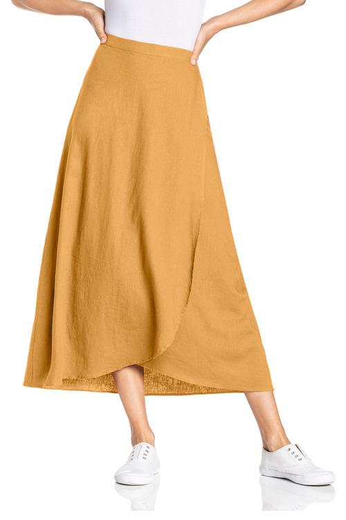 Capture Wrap Midi Skirt
