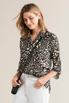 Capture Knot Cuff Detail Shirt - 234265