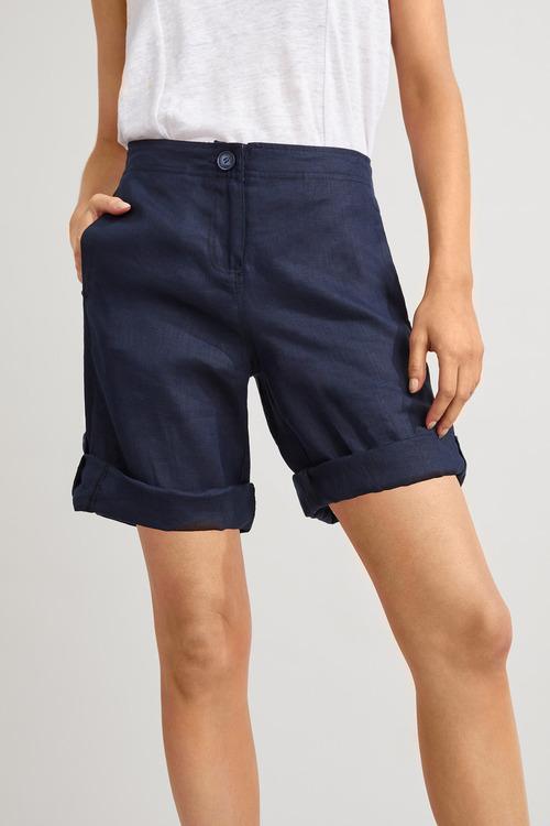 Capture Linen Tab Cuff Shorts
