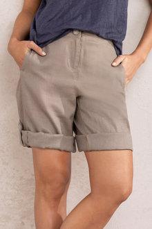 Capture Linen Tab Cuff Shorts - 234268
