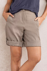 Capture Linen Tab Cuff Shorts