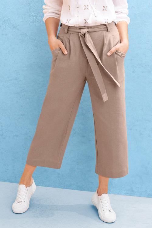 Capture Linen Blend Culottes