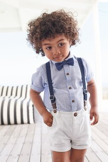 Next Shirt, Shorts, Braces And Bow Tie Set (3mths-7yrs)