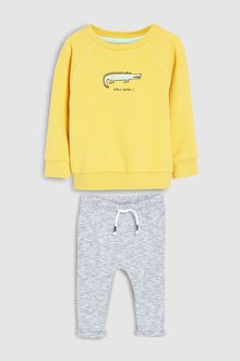Next Make It Snappy Joggers And Crew Set (3mths-7yrs)